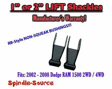 "2002 - 2008 Dodge Ram 1500 1"" / 2"" Adjustable LIFT Shackles 2WD / 4x4 NO SQUEAK!"