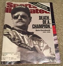 """Sports Illustrated issue """"The death of Dale Earnhart""""  Feb. 26, 2001"""