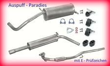 Auspuffanlage Abgasanlage kompl. ab Kat. Seat Ibiza III 1.2 (64PS) Typ 6L1 + Kit