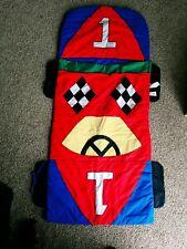 Lillian Vernon Kids Race Car Sleeping Bag. Not Personalized! EUC. Vintage. LN!