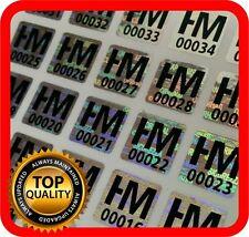 Your black print on 3000 hologram labels void warranty tamper seal 10x10mm