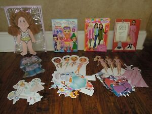 Wood & paper dress-up dolls - 5 sets
