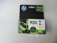 HP 920 Tri-color Ink Cartridges Exp Oct 2018
