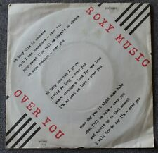 Roxy Music, over you / manifesto, SP - 45 tours Germany