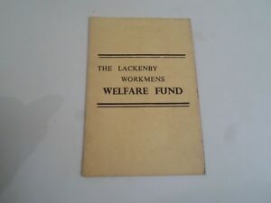 Retro Pocket Size Card - The Lackenby Workmens Welfare Fund (Rules/Information)