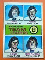 Bobby Orr Phil Esposito 1975-76 O-Pee-Chee #314 Bruins Leaders