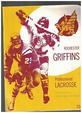 Rochester Griffins Professional Lacrosse Program 1974 v Syracuse Stingers