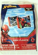 "Marvel SPIDER-MAN Inflatable ARM FLOATS - New/Factory Sealed 5.8"" Inflated"