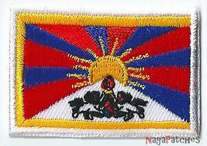 Petit Ecusson patche thermocollant patch drapeau Tibet écusson  45 x 30 mm