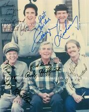 THE ANDY GRIFFITH SHOW CAST SIGNED AUTOGRAPH 8x10 RP PHOTO DON KNOTTS JIM NABORS