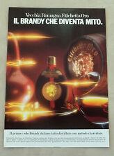 E992 - Advertising Pubblicità - 1985 - VECCHIA ROMAGNA ETICHETTA ORO