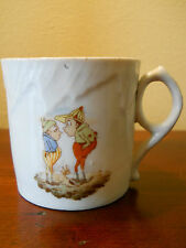 ANTIQUE RARE PALMER COX BROWNIES CHILD'S PORCELAIN MUG CUP DEMITASSE COFFEE