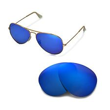 New WL Polarized Ice Blue Lenses For Ray-Ban Aviator Large Metal RB3025 62mm