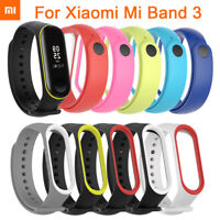 For Xiaomi Mi Band 3 Soft Silicone Bracelet Wrist Strap Watch Band