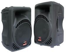 E-Lektron 12600MA 2x 600W DJ PA Aktiv Lautsprecher PAAR 30cm/12