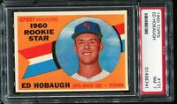1960 Topps Baseball #131 ED HOBAUGH Chicago White Sox ROOKIE STAR PSA 7 NM