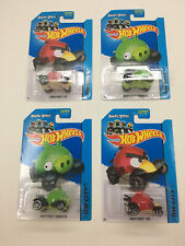 Hot Wheels ANGRY BIRDS RED and MINION PIG ~ 2014 Lot Of 4 TOONED HW CITY HTF