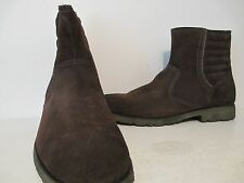 Andrew Marc Mens Hound Suede Ankle Boots Oak/Black Size 12 D