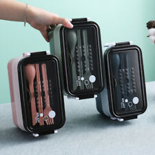 Lunch Box Bento Box for Student Office Worker Double-layer Microwave Heating