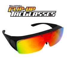 Bell + Howell Polarized Flip-Up TacGlasses - Crisp Clear Vision without Glare!