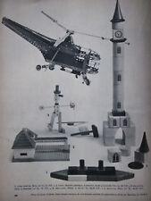 PUBLICITÉ DE PRESSE 1960 JEU LEGO MATADOR MECCANO JURA CASTOR TRIX - ADVERTISING