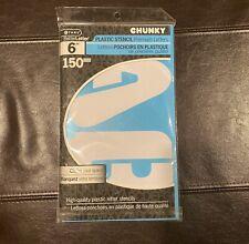 "NEW BetterLetter 6"" Chunky A-Z Plastic Stencils Reusable"