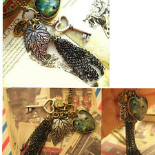 New Crystal Vintage Tassels Resin Bead Necklace Dangle Charm Pendant Long Chain