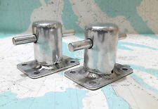 NAUTICAL MARITIME ALUMINIUM BOAT DOCK CLEAT / BOLLARD CLEAT 2 PIECES