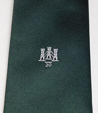 Tre torri 20 Crested Tie 20th ANNIVERSARIO non identificato LOGO Company Club