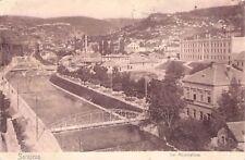 SELTEN Foto AK Sarajevo von 1911@ Der Fluss Miljacka mit Brücken und Häusern