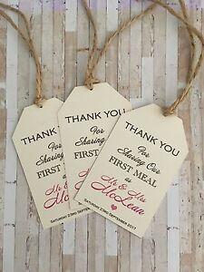 10xWedding Meal Thank You/ Wedding First Meal. Wedding Thankyou Luggage Tags