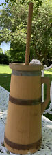 Wooden Butter Churn And Small One. Decorative Vintage Kitchen
