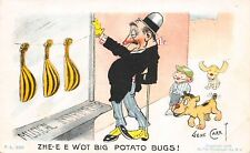 Gene Carr~Drunk Man in Music Store Window: What Big Potato Bugs!~Boy & Dogs~1907