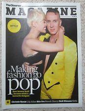Jeremy Scott – Music & Style - Observer magazine – 14 September 2014