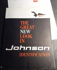 VINTAGE 1961 JOHNSON OUTBOARD ADVERTISING SIGNS SALES BROCHURE 6 PAGES (713)