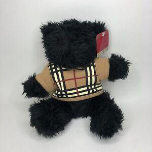 "Burberry Fragrance The Byron Bear Plush Black 10"" Teddy Bear Nova Check Sweater"