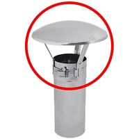 Stainless Steel Chimney Flue Cowl Pipe Rain Cover Protector Cap Ending 60-250mm