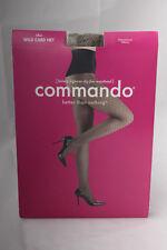 Commando ~  WILD CARD ~ fine net tights BNWT black & nude Small