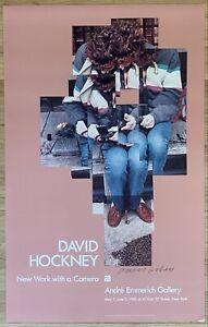 DAVID HOCKNEY Original HAND SIGNED Vintage Color Lithographic Poster 1983 L@@K!