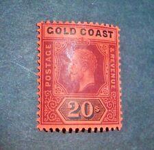 GOLD COAST  1913  George V   20/-   SG 84   mint