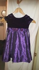 WEDDING /BRIDESMAID/PROM/PARTY DRESS GEORGE SILKY WITH VELOUR TOP PURPLE 9-12M ?