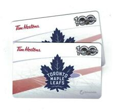 ( 2 )Tim Hortons TORONTO MAPLE LEAFS 100TH Year Anniversary 1917-2017 Gift Cards