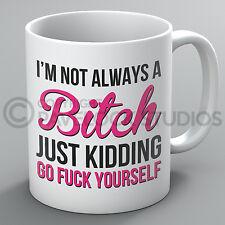 I'm Not Always A Bitch Just Kidding Mug Joke Funny Rude Profanity Coffee Gift