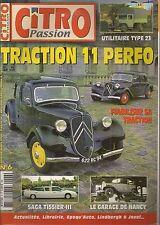 CITRO PASSION 6 CITROEN TRACTION 11 PERFORMANCE TISSIER 1975 83 CITROEN 23 RU