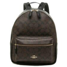 NWT Authentic Coach F32200 Medium Charlie Backpack Shoulder Bag Brown Black $378