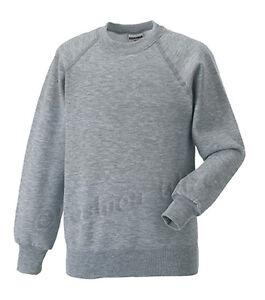 Girls Boys Unisex School Jumper Sweatshirt Uniform Age 3 4 5 6 7 8 9 10 11 12