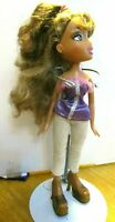 Bratz doll long dark blonde hair glitter dress high heels & extra pants shirt