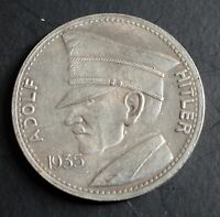 WW2 GERMAN COIN 5 REICHSMARK 1935 HITLER