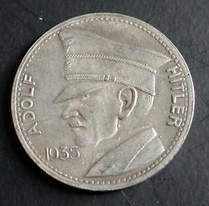 WW2 GERMAN COIN 5 REICHSMARK 1935 HITLER