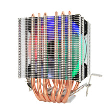 6 Heat Pipes CPU Cooler for Intel 115X 1366 9cm RGB Fan Dual-tower CPU Cooling